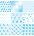 set of baby boy patterns seamless blue pattern ve vector image vector image