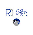 set of initial letter rd logo template design vector image