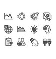 set science icons such as world money time vector image vector image
