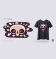 skull with evil eyes t-shirt design print for vector image vector image