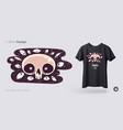 skull with evil eyes t-shirt design print vector image vector image
