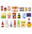 snacking product set isolated on white background vector image