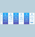software development stages onboarding mobile web vector image vector image