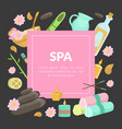 spa banner template with space for text beauty vector image vector image