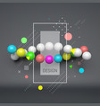 spiral 3d abstract spheres composition futuristic vector image vector image
