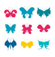 summer moth and butterfly vector image vector image