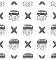 surfing trip pattern design summer seamless vector image vector image