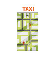 taxi service map navigation mobile app interface vector image