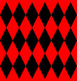 tile black and red background pattern vector image vector image