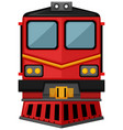train design in red color vector image vector image