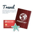 travel passport and credit card design vector image