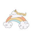 unicorn and a rainbow unicorn and a rainbow vector image