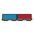 wagon loaded icon vector image vector image