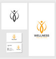 wellness icon design template vector image vector image