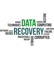 word cloud data recovery vector image