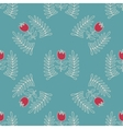 Abstract seamless pattern with hand drawn flowers vector image