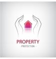 Home security business symbol Unique icon concept vector image