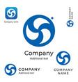 swirl creative logo modern stylish identity brand vector image