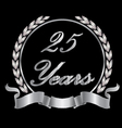 25 years vector image vector image