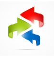 Abstract 3d Arrow Icon vector image vector image