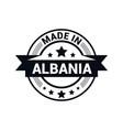 albania stamp design vector image vector image