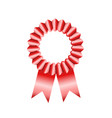 award badges red ribbon on white stock vector image