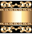 background frame with vegetable voluminous golden vector image vector image