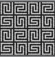 black and white mosaic seamless pattern in antique vector image vector image