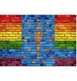 brick wall indiana and gay flags vector image vector image