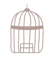 cage bird jail isolated icon vector image