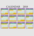 calendar 2018 eps 10 vector image