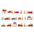 car repair shop services set of vector image vector image