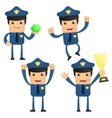 cartoon policeman vector image