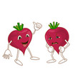 cheerful and angry emotional vegetable vector image