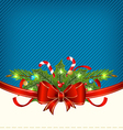 Christmas holiday packing ornamental design vector image