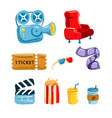 cinema tools graphic set vector image