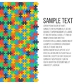 Colorful puzzle frame vector image vector image