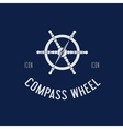 Compass Steering Wheel Symbol Icon or Logo vector image vector image