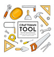 craftsman tool collection isolated design vector image vector image