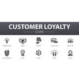 customer loyalty simple concept icons set vector image vector image