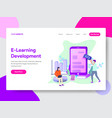 e-learning development concept vector image