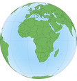 earth globe with focused on africa vector image