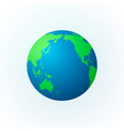 earth in the form of a globe earth planet icon vector image