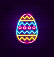easter ornament egg neon sign vector image vector image