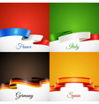 flag design ribbon concept icons set vector image vector image