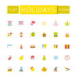 Flat Holidays Icons vector image vector image