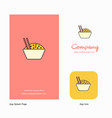food bowl company logo app icon and splash page vector image vector image