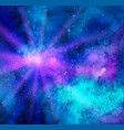 glowing background with outer space vector image vector image