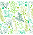 green herbal seamless pattern vector image