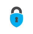 lock abstract logo icon vector image
